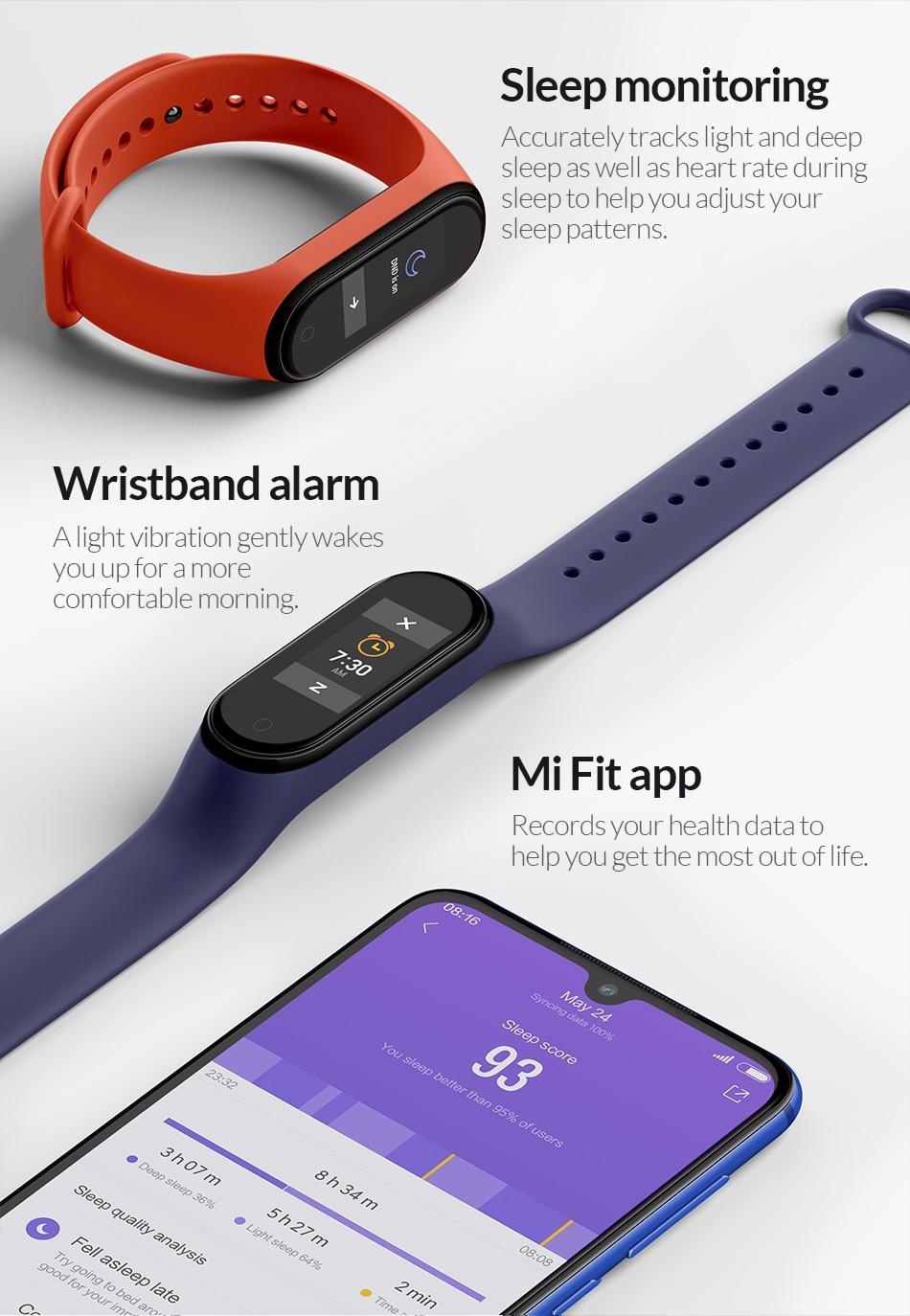 Xiaomi Mi Band 4 Waterproof Smart Fitness Tracker 2