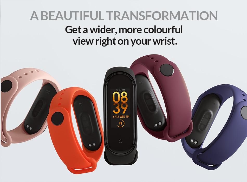 MI Smart Band 4 different colours